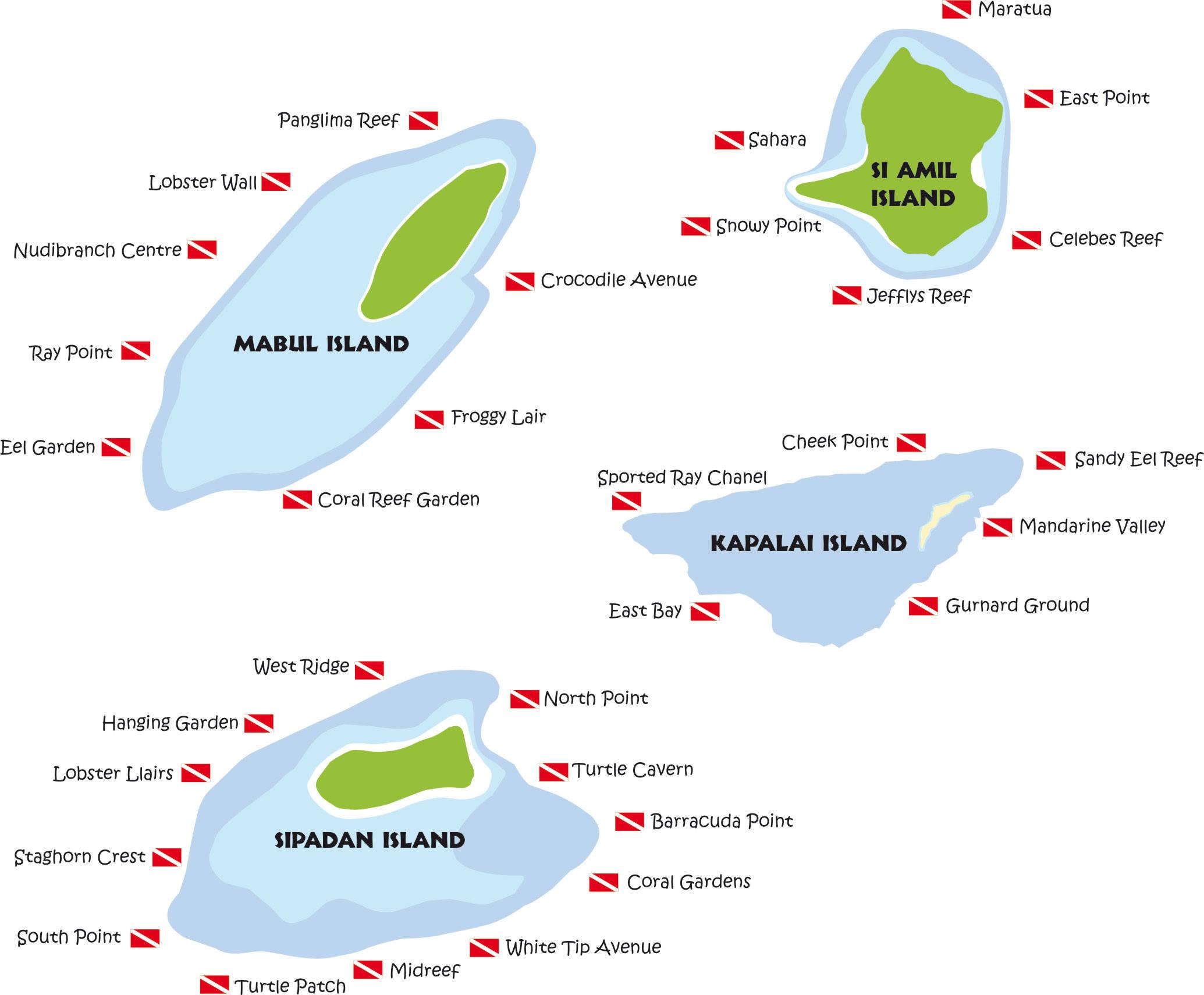 Sipadan eiland veelzijdig maleisie - Sipadan dive sites ...