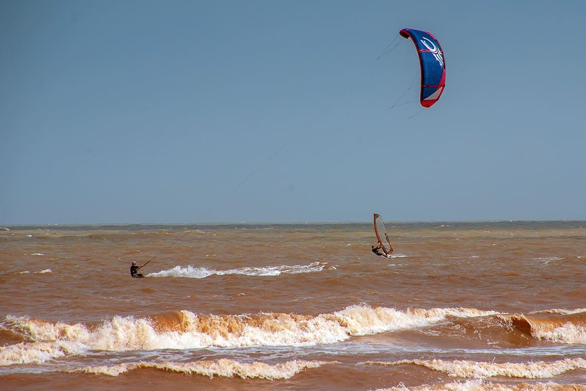 Kite surfing at Cherating Beach